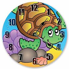 "10.5"" SEA TURTLE OCEAN CREATURES CLOCK - KIDS CLOCK - Large 10.5"" CLOCK 3339"