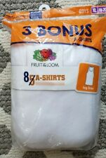 Fruit Of The Loom A Shirts Xl 18-20 White Ribbed Sleeveless 8 Pack! Comfortable!