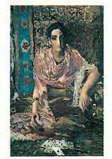 Painting Drawing Postcard Russian art gipsy girl tarrot