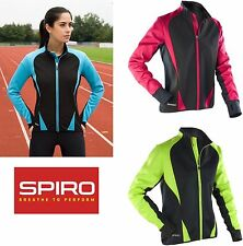 SPIRO Damen Laufjacke Fahrradjacke Softshell Sportjacke Winddicht XS S M L XL