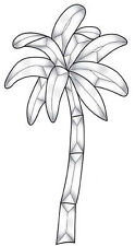 Stained Glass Supplies Palm Tree Bevel Cluster EC123