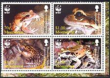 Montserrat 2006 WWF/Frogs/Wildlife/Nature/Conservation 4v blk (n16424)