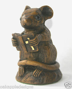 Church Mouse Bible Ornament Cute Unique Mice Gift Collectable Cathedral carving