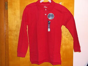 """BRAND NEW """"FADED GLORY BOY'S RED 2 BUTTON FRONT COTTON POLO SHIRT"""