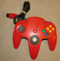 Official N64 Controller Red Nintendo 64 Remote Genuine OEM Tight Stick NUS-005