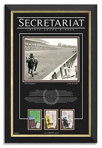 Secretariat Triple Crown - Ron Turcotte Facsimile Signed Archival Etched Glass™