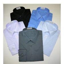 Business-Regular Collar Machine Washable Long Formal Shirts for Men