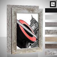Bilderrahmen London Holz MDF Foto Poster Rahmen Farbwahl 40 Größen ab 10x15
