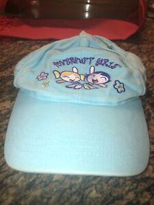 Vintage Power Puff Girls Cartoon Network Cap Teal Blue Embroidered Design