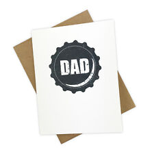 Funny Bottle Cap Handmade Father's Day Card for Dads that Like Beer and Humor