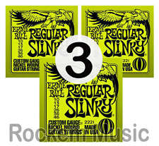 Ernie Ball 2221 Regular Slinky 10 - 046 Electric Guitar Strings 3 x SETS