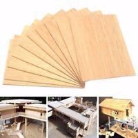 10pcs Balsa Balsaholz Balsabrett Balsabrettchen Holzplatte 150x100x2mm