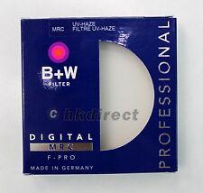 B+W 62 mm UV-Haze MRC 010M Multi-Coated Brass F-PRO 62mm Filter, Free Shipping