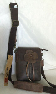 HIPPIE GLAN Brown Leather Bum/Cross Body/Shoulder Bag / Handbag