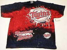 Large Genuine Merchandise Minnesota Twins Graphic T Shirt Red and blue