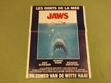 MOVIE POSTER / CINEMA AFFICHE - JAWS (STEVEN SPIELBERG, ROBERT SHAW)