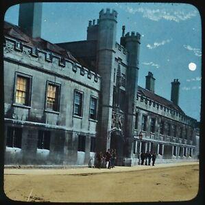 Magic Lantern Slide Photo Cambridge Christ's College Colour Tinted GW Wilson