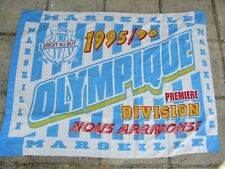 Drapeau OLYMPIQUE DE MARSEILLE OM vintage 1995 1996 ancien collection 130 x 97cm