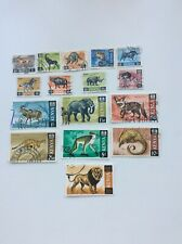 KENYA  1966 WILD ANIMALS  FULL SET USED STAMPS SHOWN IN PICTURE