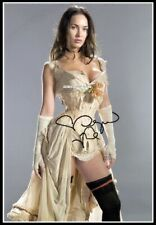 Megan Fox, Autographed, Pure Cotton Canvas Image. Limited Edition (MF-403)