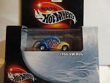Hot Wheels 100% Black Box Blue 1966 VW Bug w/Real Riders