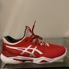 ASICS Court FF Novak Tennis Shoes Men's Size 13 Cherry Tomato Red White 1041A089