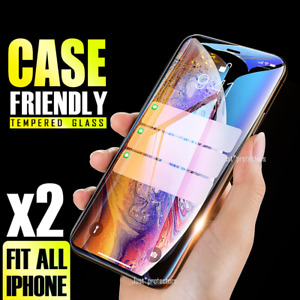 Tempered Glass Screen Protector For Apple iPhone 8+ 7 Plus 6 6S 12 11 Pro Max XR