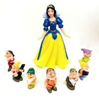 Spielfiguren Disney Schneewittchen und die sieben Zwerge 8 Figuren komplett, 737