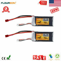 2X 2S 7.4V 1500mAh 35C RC Lipo Battery T Plug for RC Helicopter Airplane Car US