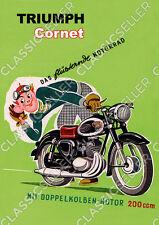 Triumph Cornet 200 ccm Poster Plakat Bild Schild Kunstdruck Affiche Reklame