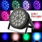 18x15W LED 6in1 RGBWA UV Par Light Stage PAR64 DMX Disco DJ Club Concert Effect