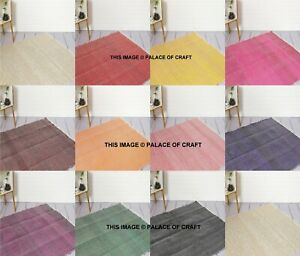 Indian Cotton Chindi Rug Solid Color Carpet Rug, Floor Rug, Area Rug, Room Decor