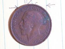 Coin Great Britain 1924 Half Penny Georgius V Def Gras Britt: Omn: Rex: Fid: Def