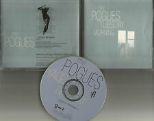 Shane Macgowan THE POGUES Tuesday Morning PROMO DJ CD Single w/ PRINTED LYRICS