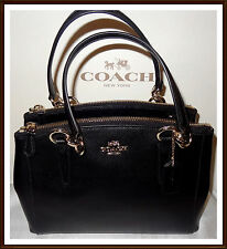 Coach Leather Mini Christie Carryall Bag Satchel Purse Black NWT NEW 36704