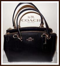 NWT NEW $350 Coach Leather Mini Christie Carryall Bag Satchel BLACK w/ receipt