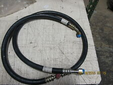 """86"""" COMPRESSOR TO CONDENSER A/C HOSE #8 With #8 FEMALE O RING Beadlock Fittings"""