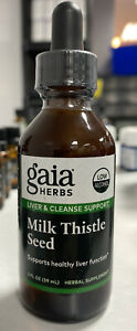 Gaia Herbs Milk Thistle Seed Low Alcohol 2 oz EXP 11/2020 FREE SHIPPING