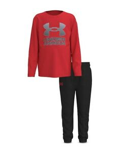 New Under Armour Boys' Horizon Pullover & Jogger Pants Set Size 7