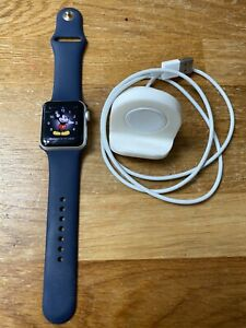 Apple Watch Series 2, 38mm Aluminium Case, Blue Band (Long And Short Strap)