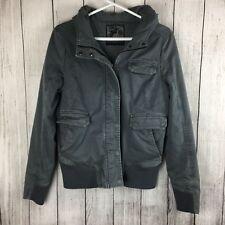 Fox World Famous Large Gray Hood Juniors Girl Jacket Coat