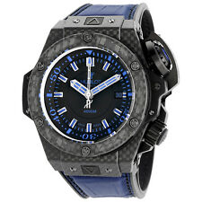 Hublot King Power Oceanographic Black Dial Blue Rubber Mens Watch