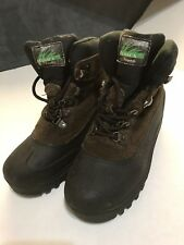 Itasca Boots Kids Thinsulate Brown Black Leather Shoes Size 4 Medium Lace Up