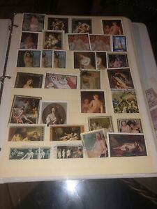 Nude Paintings Art stamps Collection (over 370)