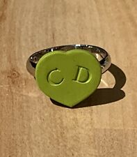 AUTHENTIC CHRISTIAN DIOR RING 2008 PURCHASED DIOR NEW YORK GREEN HEART