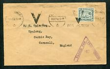 11.09.1941 Malaya Selangor 8c stamp on cover to GB UK with Machine Slogan Pmks
