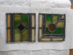 Pair Of Old Stained Glass Windows