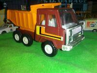 KY TOY Mini Vintage Dump Truck Brown Orange1970's STEEL RODER JAPAN VERY NICE Q1