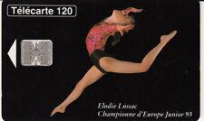 France télécarte 120 Elodie Lussac championne d'Europe Junior 93