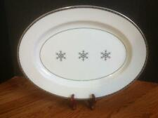 "Target FIRST FROST 16"" Oval Serving Platter Silver Snowflake ~ Lovely!"